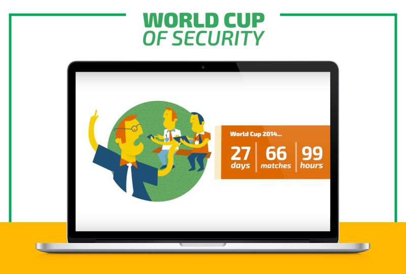Infographic explaining video: The soccer World Cup and their consequences in the networks