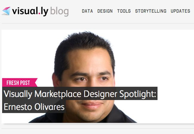 Visual.ly interview to Ernesto Olivares
