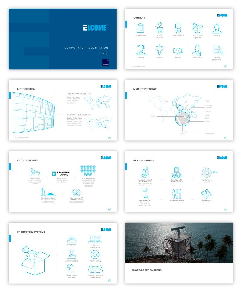 PPT Presentation design for navigator Elcome corporate style