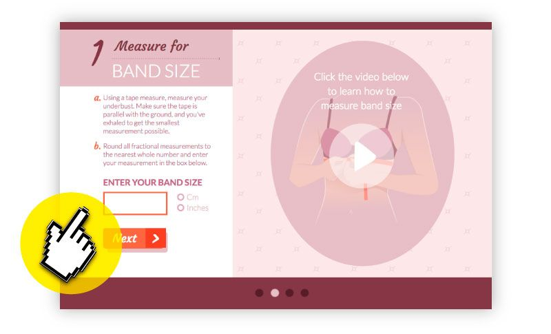 Interactive Infographic to know the perfect size of Bra