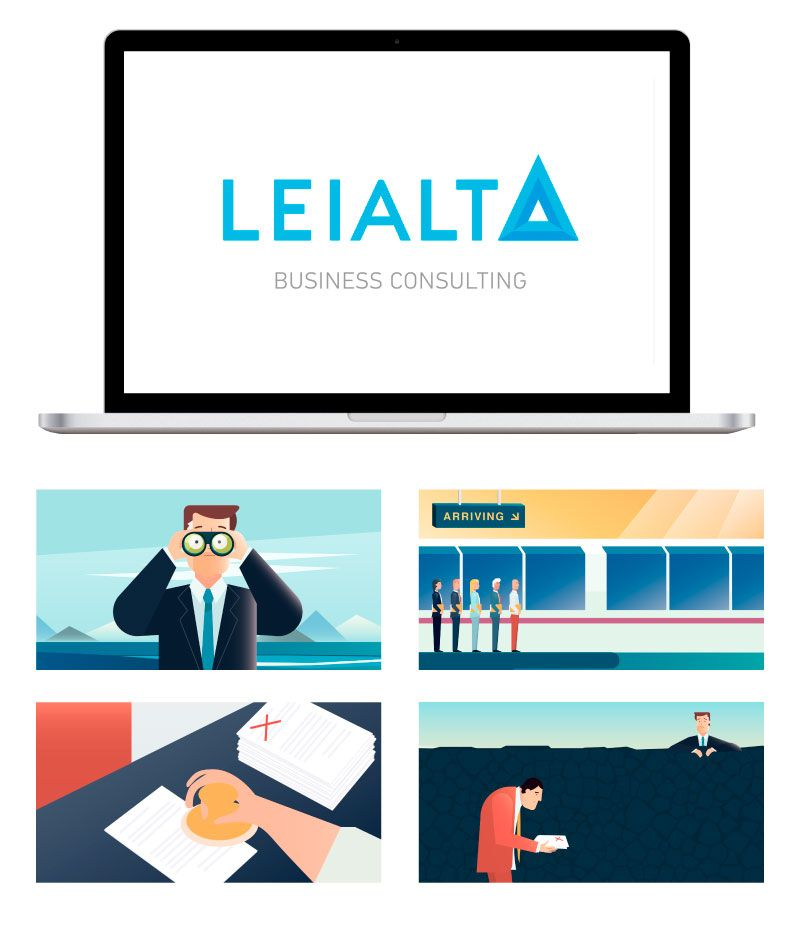 Infographics in explaining videos: Getting more clients - Leialta